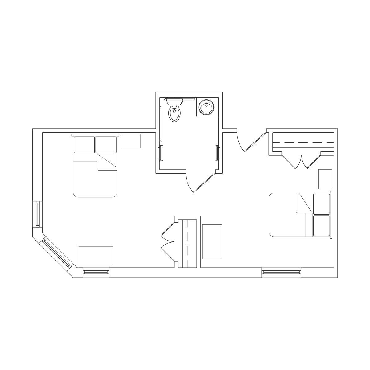 Companion Suite 2 Floor Plan