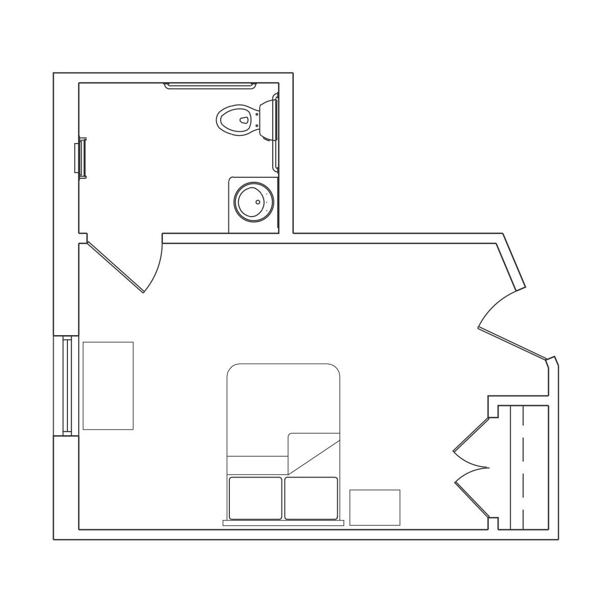 Large Bedroom Floor Plan